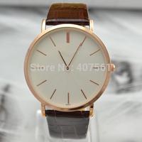 fashion good quality very luxury super thin man woman lady girl unisex couple lovers' Quartz Wristwatch wist watch hour clock