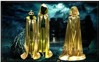 2014 Wicca Free shipping New Hooded Vampire Cape Halloween Party Cloak Size S-XL