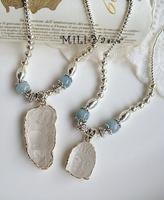 925 silver short necklace Crystal Gautam Buddha Maitreya