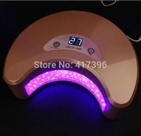 Pink color 18W LED Curving UV Light led lamp for nail art LED gel manicure saok off gel 110V-240V AU EU US UK plug