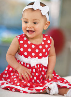 summer 2014 Kid's dress High quality girl dress Candy Dress with bow wholesale free of shipping