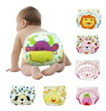 5PCS/LOT cartoon baby training pants waterproof diaper pant potty toddler panties newborn underwear Reusable free shipping(China (Mainland))