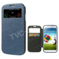Mercury Goospery Wow View Window Flip Leather Case For Samsung Galaxy S4 SIV I9500 Cover for Galaxy S4 SIV Freeshipping