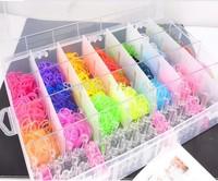 2014 Hot Toys Rubber loom bands kit including(2200pcs bands +12pcs stickers+6pcs hook+40 s-clips +1 loom) diy colorful Bracelets