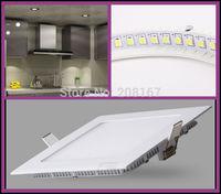100Pcs/lot 4W AC85-265V LED ceiling recessed grid round/square panel light T002