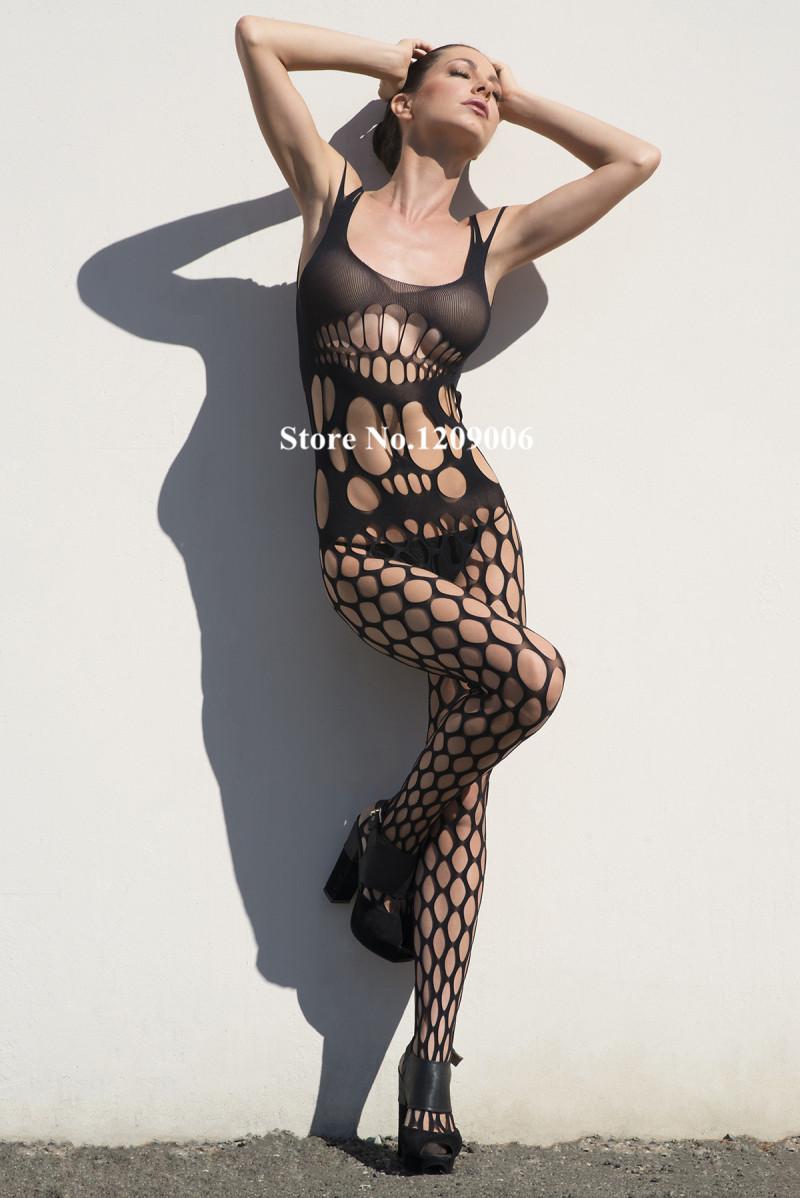2015 Fashion Lady's Sexy Lingerie Lace Body Stockings Net Bodystockings Sexy Mesh Adult Fishnet Bodysuit Black Women(China (Mainland))