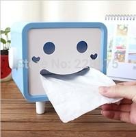 Cartoon square smiley tissue box honey male girls gift