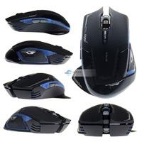 Free Shipping E-3lue E-blue Cobra II Mazer 2500DPI USB 2.4GHz Wireless Optical Laser Gaming Mouse