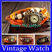 Original Leaf Pendant Design Restoring Ancient Ways Wrist Woven Tape Series Watch Leather Strap Unisex Vintage Watches Bracelet