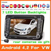 2Din Android 4.2 Car DVD Player For VW Polo Sedan Jetta Tiguan Golf Passat+GPS Navigation+Radio+dvd automotivo+Audio Car Styling