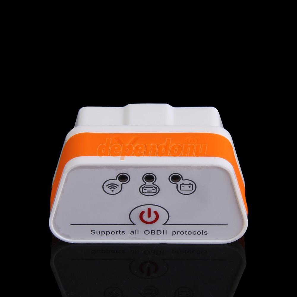 D1U# ELM327 OBDII Wifi Car Auto Diagnostic Interface Scanner White and Orange(China (Mainland))