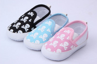 Kids Toddler Baby Boys Girls Skull Animal Printed Soft Bottom Shoes Prewalker For Freeshipping