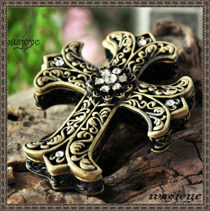 Classic Gothic Latin Cross Jewelry Box Vintage Princess Keepsake Gift Box(China (Mainland))