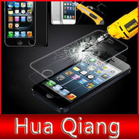 50pcs/lot Clear Front Premium Tempered Glass LCD Screen Protector Protective Film Guard For iPhone 5 5S 5C 4S 4G