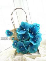 Korean version of the new female flowers summer vacation beach bag straw bag