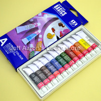 12 ml acrylic colour paints tube set nail art painting drawing tool for the artists 12pcs/lot