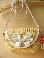 Korean version of the pastoral little fresh straw bag