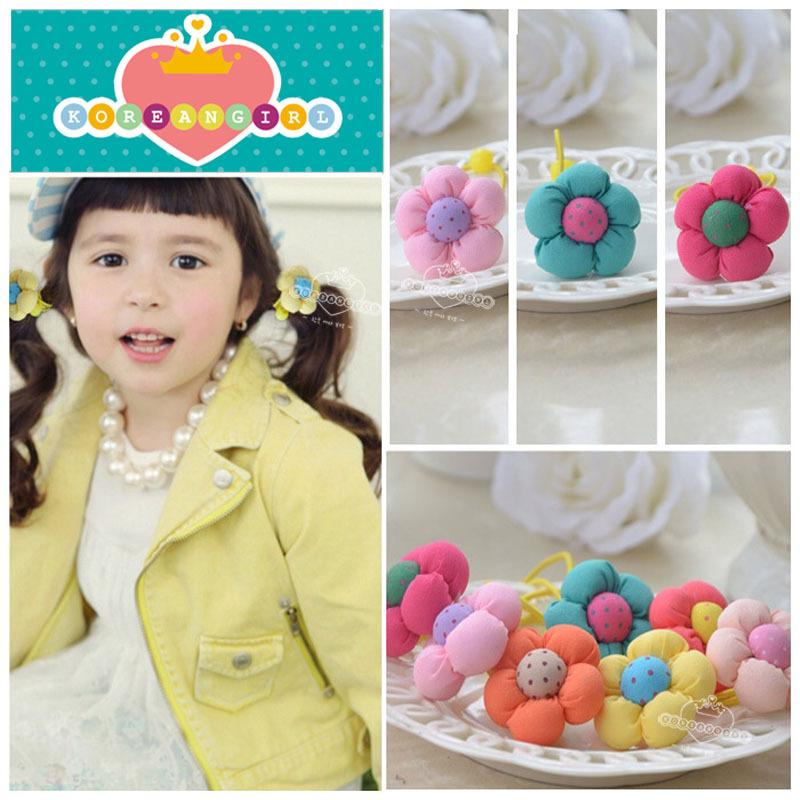 Promotion children hair band headband rope round buckle jewelry monochrome pumpkin Baby Girl hair ornament elastic headbands(China (Mainland))