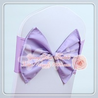 Wholesale - Free shipping lilac elastic chair band for wedding decoration spandex sash for cover chair lycra chair band