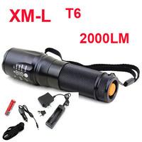 UltraFire E26 Hard anodized CREE XM-L2 2000Lumens 5-Mode LED CREE Flashlight Torch For 26650 18650 3xAAA + flashlight holster