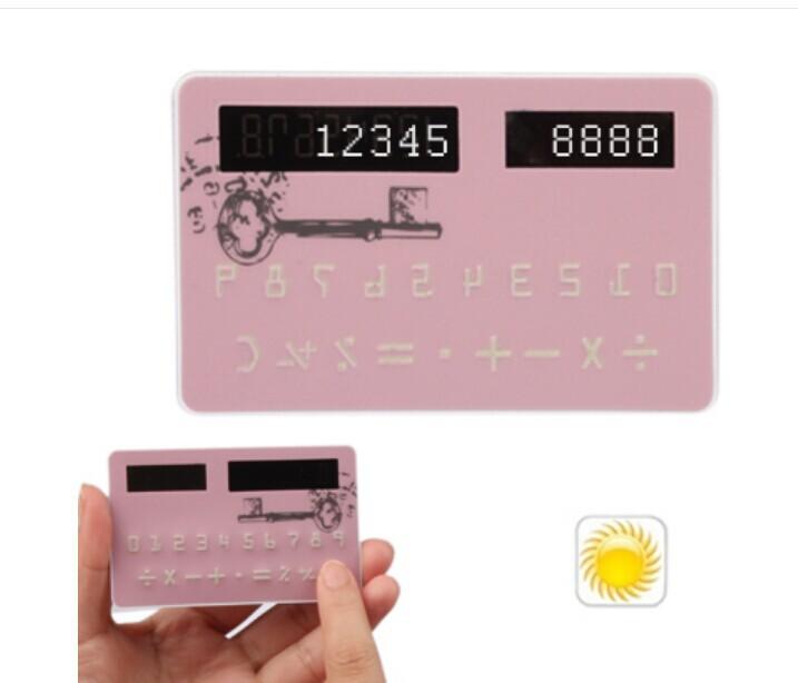 Doulex Key Pattern Solar Calculator Counter Calculating (Pink)(China (Mainland))