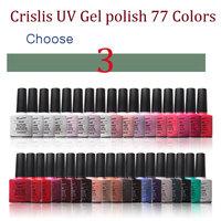Any 3 Colors Crislish 77 Colors Led Uv Gel Nail Polish Nail Art Builder Gel Varnishes Nail Tools Drop Shipping Wholesale