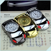 5pcs/lot  Creative Car Shape With Watch Portable Inflatable Smoking Cigarette Windproof Torch Lighter With Light Butane Gas