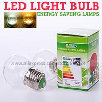 E27 1W 2W  White LED Light Bulb Lamps Transparent PC Light For Bar KTV Stage Light Home lamp 220V-240V