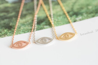 30 PCS- Fashion Design Jewelry Gold silver rose girls anniversary fortunate evil eye necklace -Free Shipping