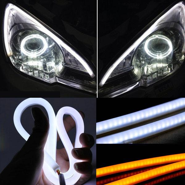 """2 pezzi 85cm 33.46""""Il 12v auto moto scooter morbido guida led flessibile lampada led luce di striscia/Indicatore semaforo segnale"""