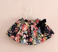 Free shipping New 2014 girl's fashion baby tutu skirt 2 color petti floral tutu short skirt/ fluffy skirt for girls