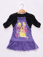 2014 New style cheap china  girls dress for kid free shipping