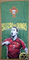 Portugal 7# Cristiano Ronaldo  microfiber towel / popular sports hand towel / facecloth