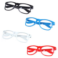 New Retro Fashion Vintage Style Clear Wayfarer Nerd Geek Colorful glasses