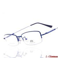 2014 New Brand Designer Fashion Retro Silicone Lens Metal  Half Rim Spectacle Frame Plain Glasses Optical Frame Oculos Gafas