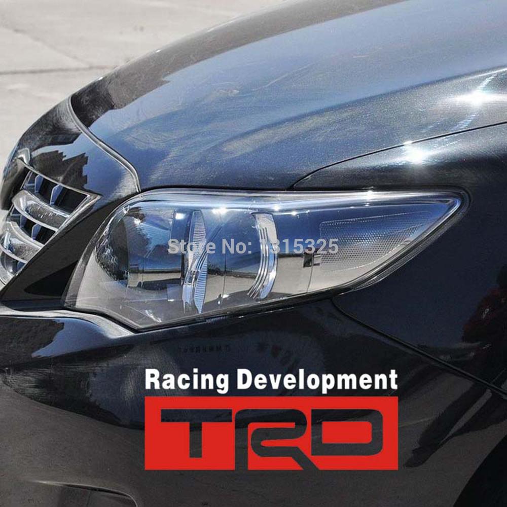 TRD Toyota Racing Development Car Stickers Car Decal for Toyota Corolla Yaris Camry Prius Highlander Prado(China (Mainland))
