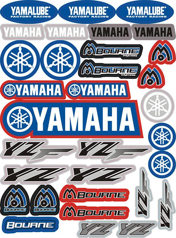 personalized car stickers 3m waterproof sunscreen fade personalized car stickers decals for yamaha(China (Mainland))