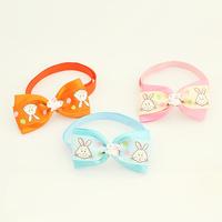 Armi store Handmade Rabbit Pattern Ribbon Dog Bow Tie 31014 Pet Bows Collars Supplies