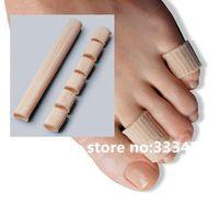 Nylon tube with gel liner Gel toe protector toe tube nylon tube gel liner bunion Toes Protector Corns Calluses Toe Separator