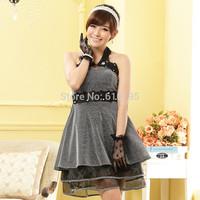 Free Shipping Uncommon women's 2014 Silver Dress