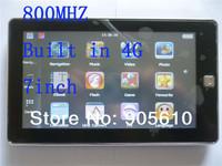 Drop shipping 7 inch CAR GPS NAVIGATION WinCE 6.0+MTK 800 MHz+128RAM+MP3 MP4 +Internal 4GB+HD Touch screen FREE MAP