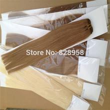 16''-28''  natural slavic hair weaves on tresse black brown blonde white 100g/pack(China (Mainland))