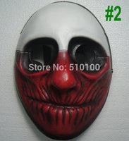 Unisex PAYDAY WOLF MASK Heist joker clown costume Demon Fancy Dress Ball Cosplay Costume props Halloween Masquerade Circus new
