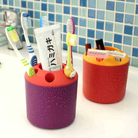 Creative Living candy color bathroom wash gargle cup Plastic toothbrush cup multi-purpose Toothbrush holder