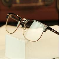 2014 New Fashion Retro Half Rim Optical Myopia Eyeglasses Frames Men And Women Brand Spectacle Eyeglasses Frame Glasses