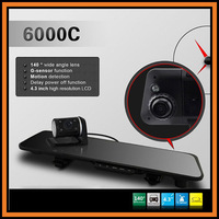 "Allwinner F20 Car DVR Rearview Camera 6000C 4.3"" LCD HD 1280*720P 170 Degree Angle G-sensor IR Night Vision Motion Detection"