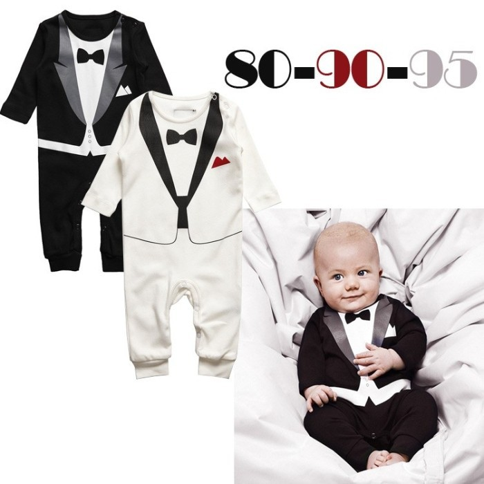 Baby Romper, boy's Gentleman modelling romper infant long sleeve baby climb clothes kids outwear/clothes Dropshipping #2 19873(China (Mainland))