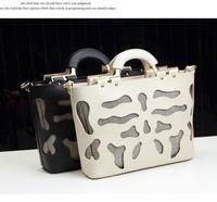 2014 Women messenger bags fashion pu leather  hollow out  totes women designer high quality handbags WJ751