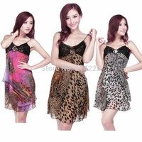 Sexy Lingerie Leopard Underwear with G-String Butterfly Women's Nightwear Hot Girl Sleepwear   MS100