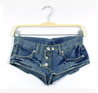 2014 summer female vintage temptation women's sexy denim shorts